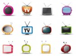 colorful tv icons