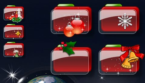 christmas iconorama folder icons