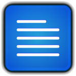 Blue File Word icon