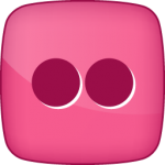Flickr social  icon hover pink