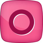 Orkut social  icon hover pink