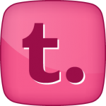 Tumblr social icon hover pink