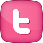 Twitter-2 social  icon active pink white