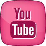 YouTube social icon hover pink