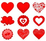 free vector valentine heart icons
