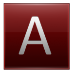 Letter A red