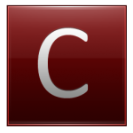 Letter C red
