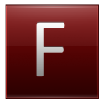Letter F red