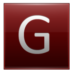 Letter G red