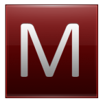Letter M red