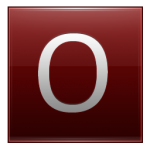 Letter O red