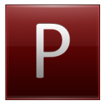 Letter P red