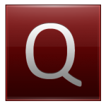 Letter Q red