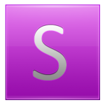 Letter S pink
