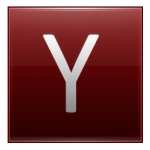 Letter Y red