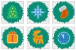 christmas wreath icons