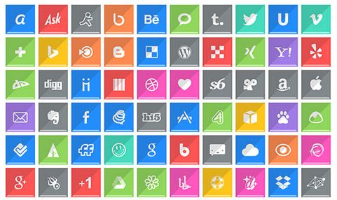 shaded social media networking icons