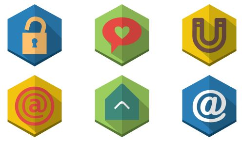 shaded polygon icons